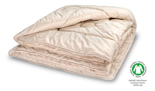 Bettdecke Woll Stepp warm