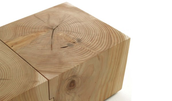 Beistelltisch Eco Block Rectangular